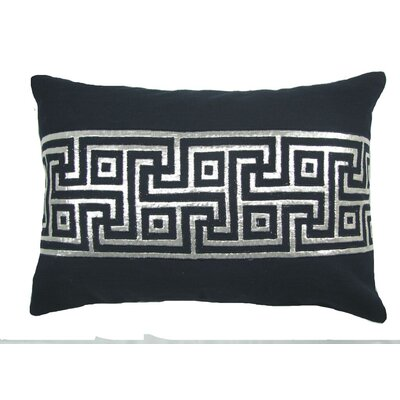 Key Lurex Throw Pillow Color: Navy/Silver