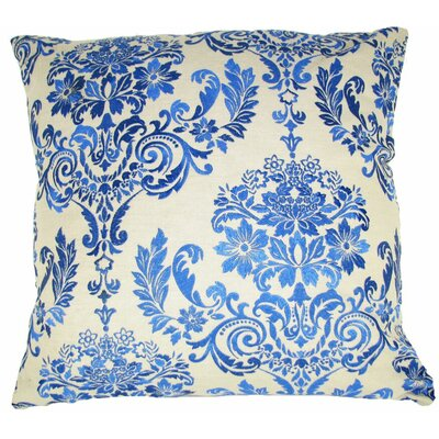 French Damask Throw Pillow Color: Blue