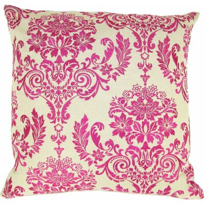 French Damask Throw Pillow Color: Fuchsia