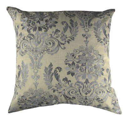 French Damask Throw Pillow Color: Gray