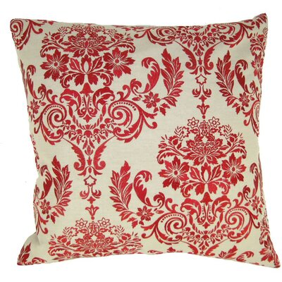 French Damask Throw Pillow Color: Red