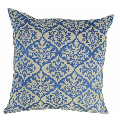 Ikat Mat Throw Pillow Color: Blue