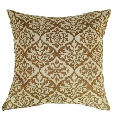 Ikat Mat Throw Pillow Color: Brown