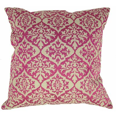 Ikat Mat Throw Pillow Color: Fuchsia