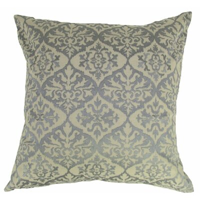 Ikat Mat Throw Pillow Color: Gray