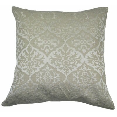 Ikat Mat Throw Pillow Color: Ivory