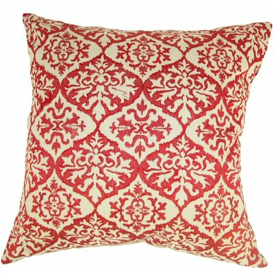 Ikat Mat Throw Pillow Color: Red
