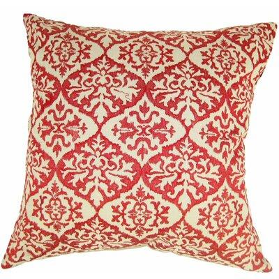 Ikat Mat Throw Pillow Color: Red