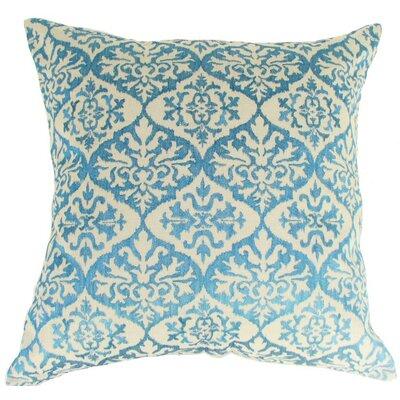 Ikat Mat Throw Pillow Color: Turquoise