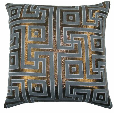 Key Lurex Throw Pillow Color: Gray/Copper