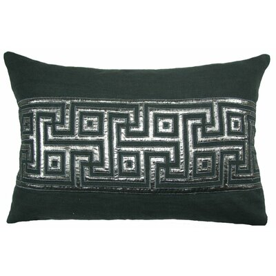 Key Lurex Throw Pillow Color: Gray/Silver