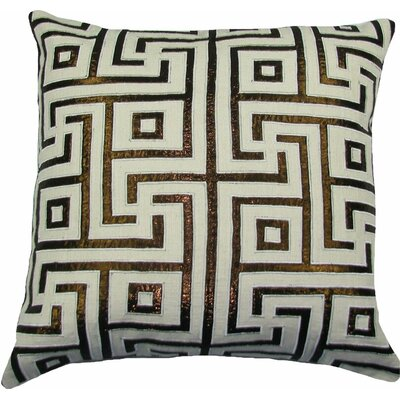 Key Lurex Throw Pillow Color: Ivory/Copper