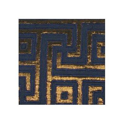 Key Lurex Throw Pillow Color: Navy/Copper