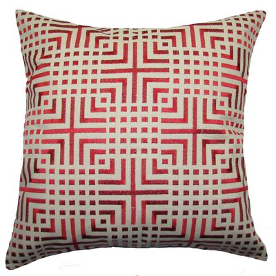 Chatai Throw Pillow Color: Red