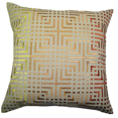 Chatai Throw Pillow Color: Yellow