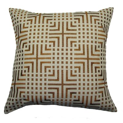 Chatai Throw Pillow Color: Brown