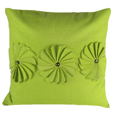 Pinwheels Felt Throw Pillow Color: Green