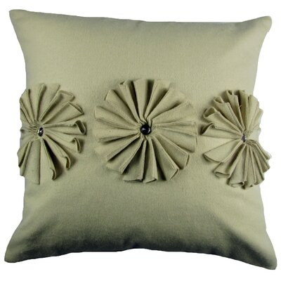 Pinwheels Felt Throw Pillow Color: Ivory