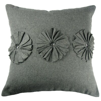 Pinwheels Felt Throw Pillow Color: Grey