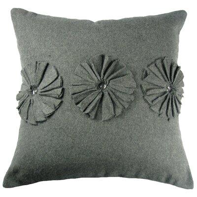 Pinwheels Felt Throw Pillow Color: Grey