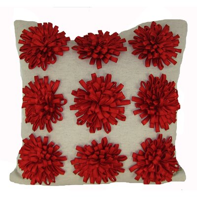 Staunton Red 100% Cotton Throw Pillow Color: Red