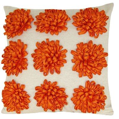 Staunton Red 100% Cotton Throw Pillow Color: Orange