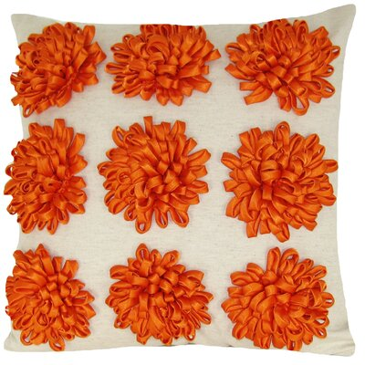 Staunton 100% Cotton Throw Pillow Color: Orange