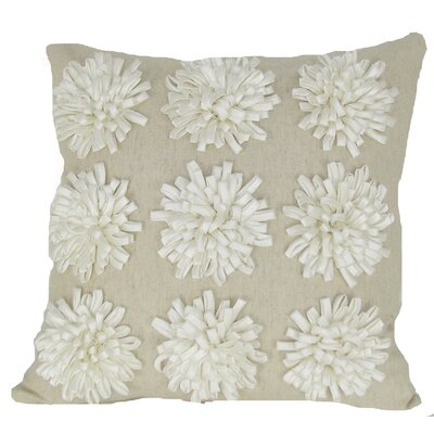 Thomsen 100% Cotton Throw Pillow Color: Ivory