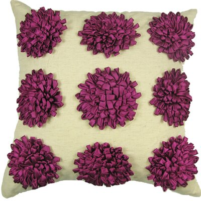 Thomsen 100% Cotton Throw Pillow Color: Fuschia