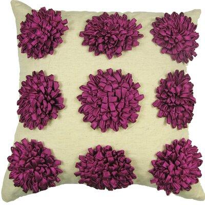 Staunton 100% Cotton Throw Pillow Color: Fuschia