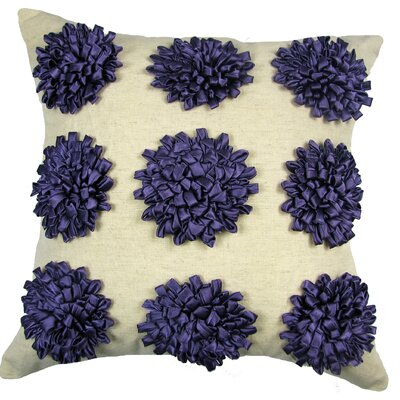 Staunton 100% Cotton Throw Pillow Color: Grape