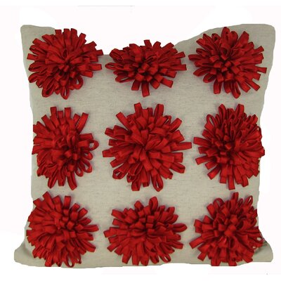 Staunton 100% Cotton Throw Pillow Color: Red