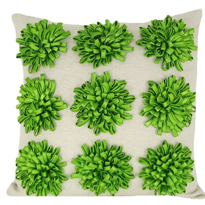 Thomsen 100% Cotton Throw Pillow Color: Green
