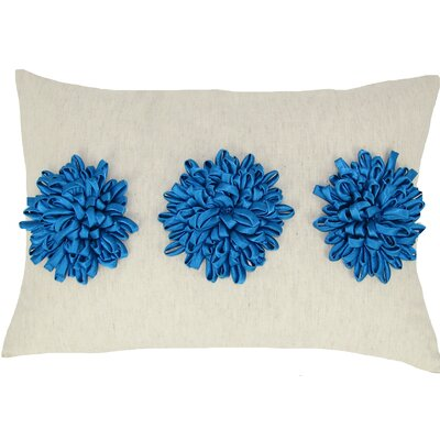 Reddick 100% Cotton Lumbar Pillow Color: Turquoise