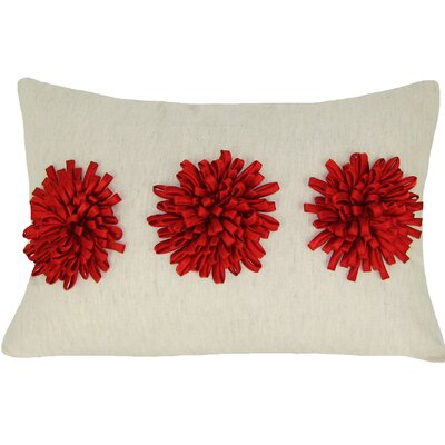 Reddick 100% Cotton Lumbar Pillow Color: Red