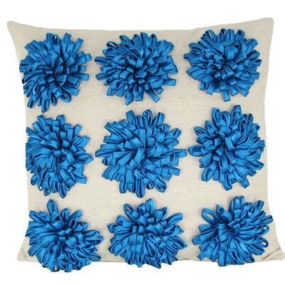 Thomsen 100% Cotton Throw Pillow Color: Turquoise