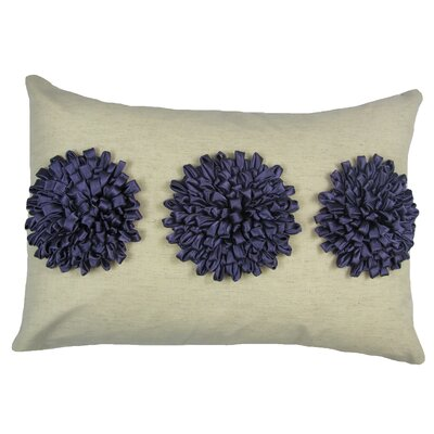 Staunton 100% Cotton Lumbar Pillow Color: Grape