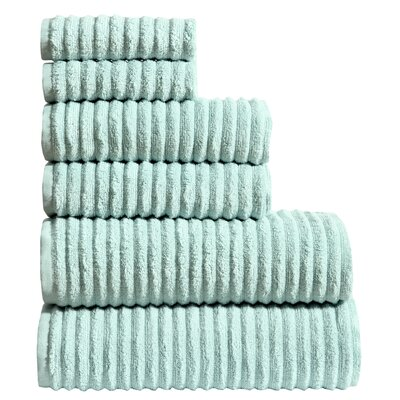 Shevchenko Place 6 Piece Towel Set Color: Teal