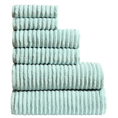 6 Piece Towel Set Color: Teal