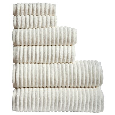 Shevchenko Place 6 Piece Towel Set Color: Ivory