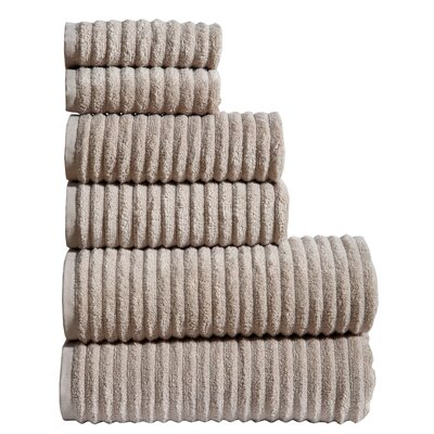 6 Piece Towel Set Color: Oat