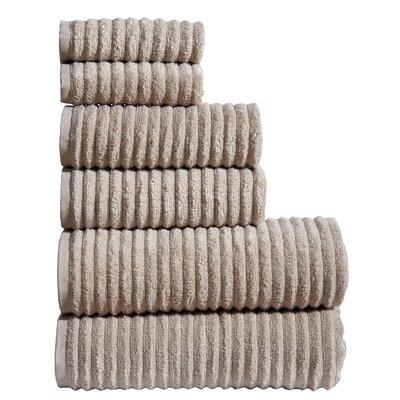Shevchenko Place 6 Piece Towel Set Color: Oat