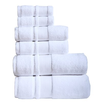 Jhonson 6 Piece Towel Set Color: White