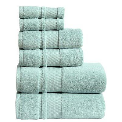 6 Piece Towel Set Color: Aqua
