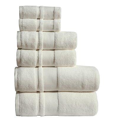 Jhonson 6 Piece Towel Set Color: Ivory