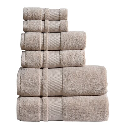 Jhonson 6 Piece Towel Set Color: Oat