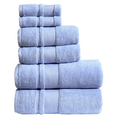 6 Piece Towel Set Color: Periwinkle