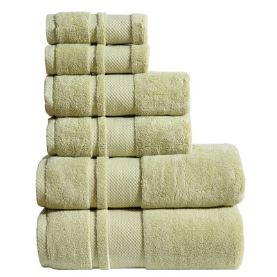 6 Piece Towel Set Color: Celery