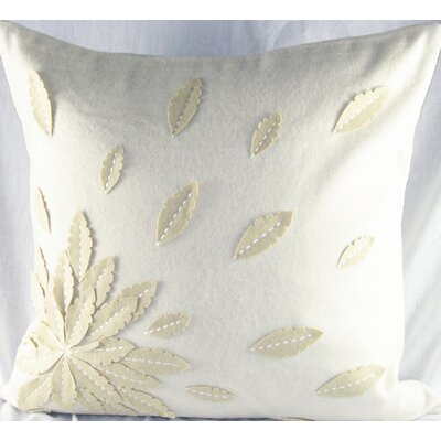 Felt Applique Flower Felt Throw Pillow Color: Ivory