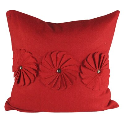 Pinwheels Felt Throw Pillow Color: Red
